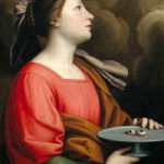 St Lucy with her eyes on a plate
