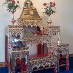 Golden shrine in the Buddhist monastery in Bradford-on-Avon