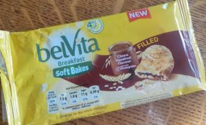 Yellow plastic wrapper for Belvita Breakfast soft bakes