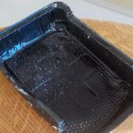 Non-recyclable black plastic tray